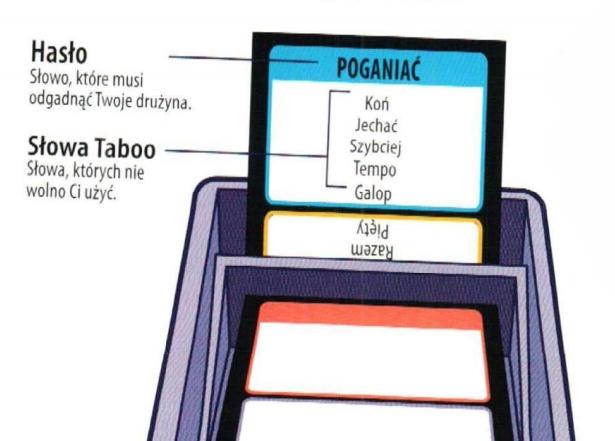 Taboo (Tabu) - przykładowa karta z hasłem